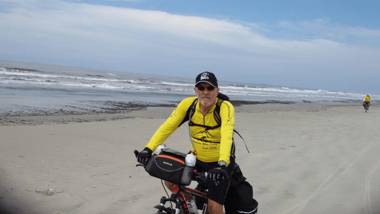 Conheci o cicloturismo depois da aposentadoria