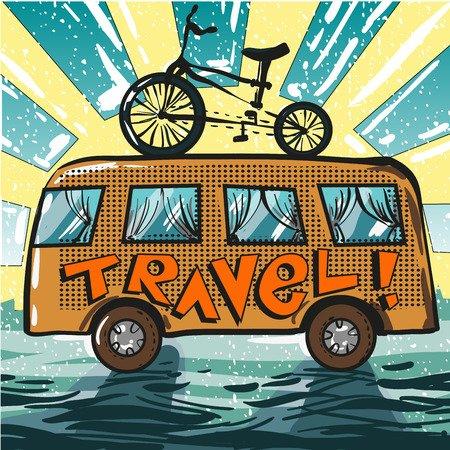 Cicloturismo com carro de apoio