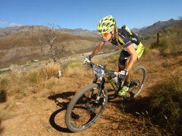 Sally Bigham mulheres no mountain bike